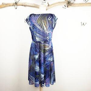 Vintage 70's 80's sheer tropical dress